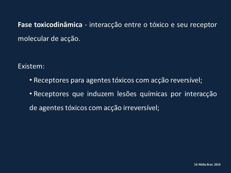 Receptores para agentes tóxicos com acção reversível;