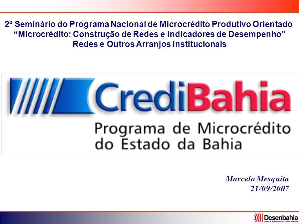 2º Seminário do Programa Nacional de Microcrédito Produtivo Orientado
