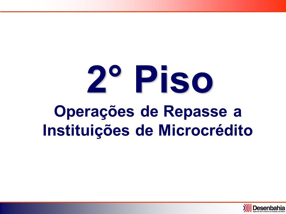 2° Piso Operações de Repasse a Instituições de Microcrédito