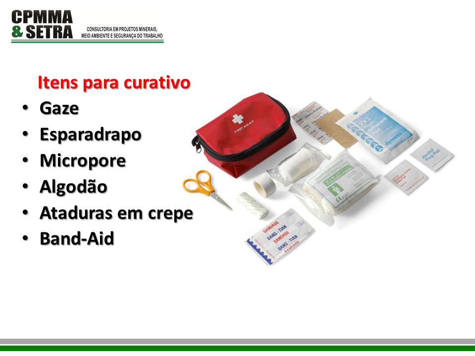 Itens para curativo Gaze Esparadrapo Micropore Algodão Ataduras em crepe Band-Aid