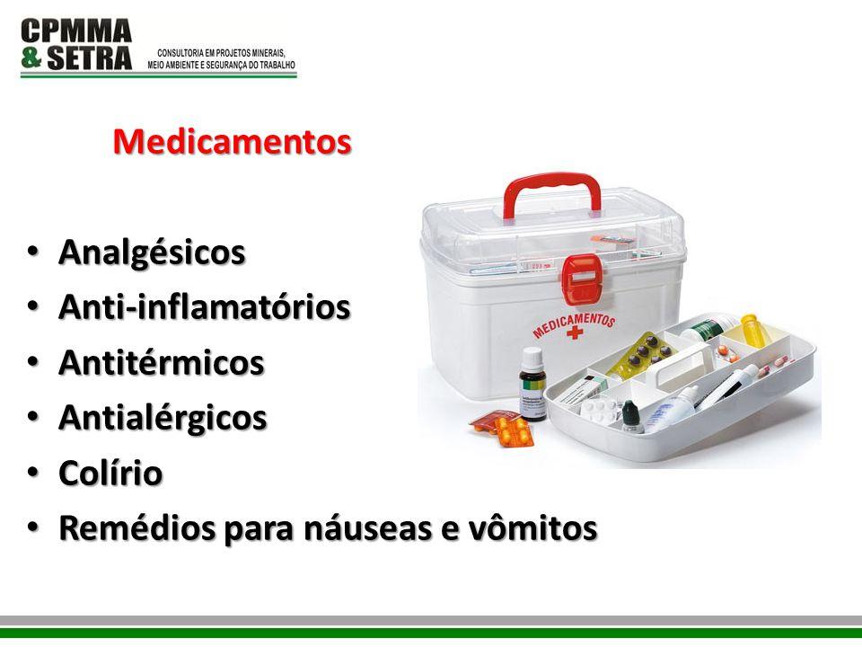 Medicamentos Analgésicos. Anti-inflamatórios. Antitérmicos.