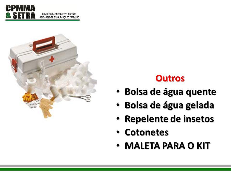 Outros Bolsa de água quente Bolsa de água gelada Repelente de insetos Cotonetes MALETA PARA O KIT