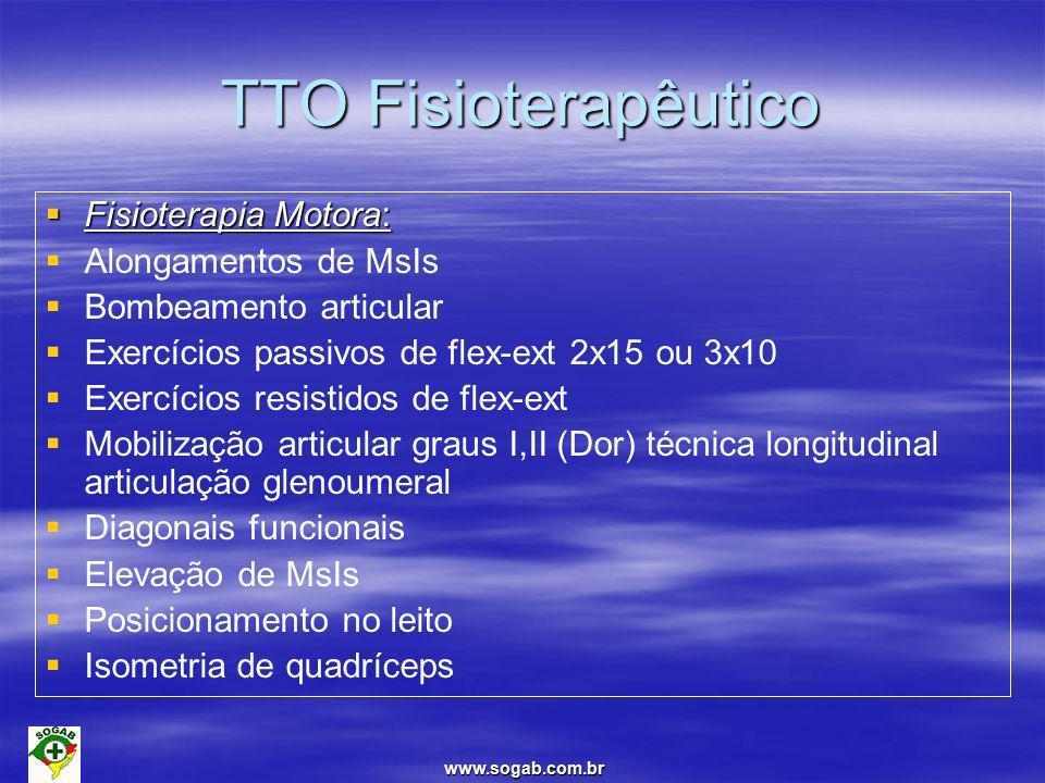 TTO Fisioterapêutico Fisioterapia Motora: Alongamentos de MsIs