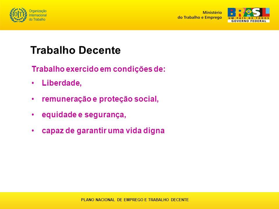 PLANO NACIONAL DE EMPREGO E TRABALHO DECENTE