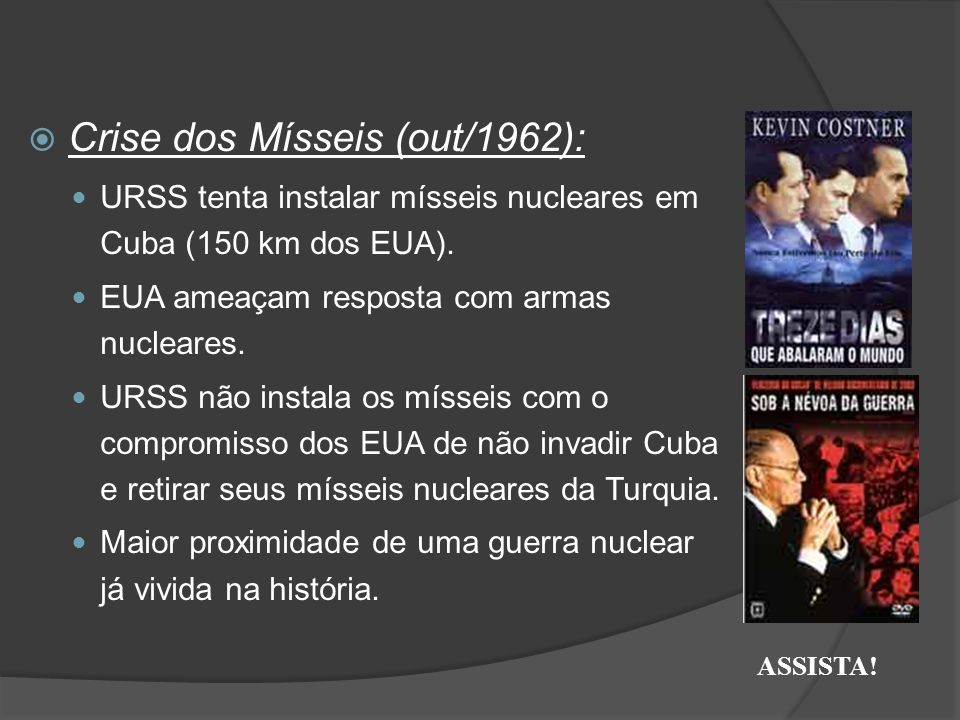 Crise dos Mísseis (out/1962):