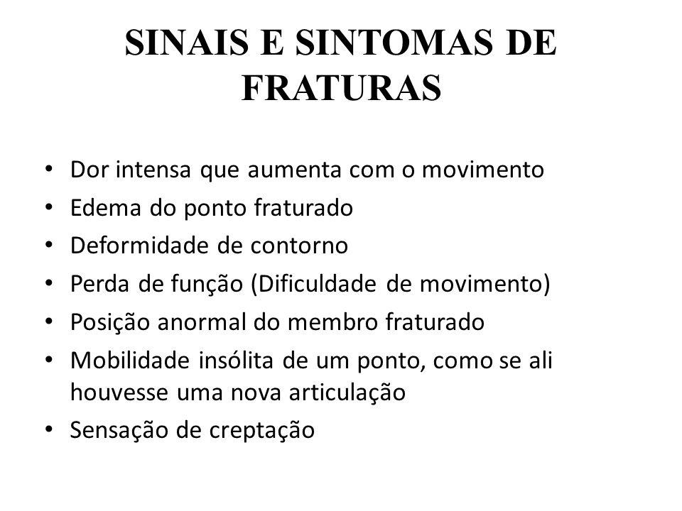 SINAIS E SINTOMAS DE FRATURAS