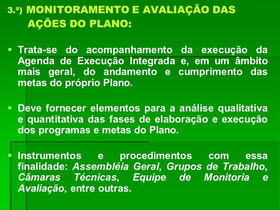 3.ª) MONITORAMENTO E AVALIAÇÃO DAS