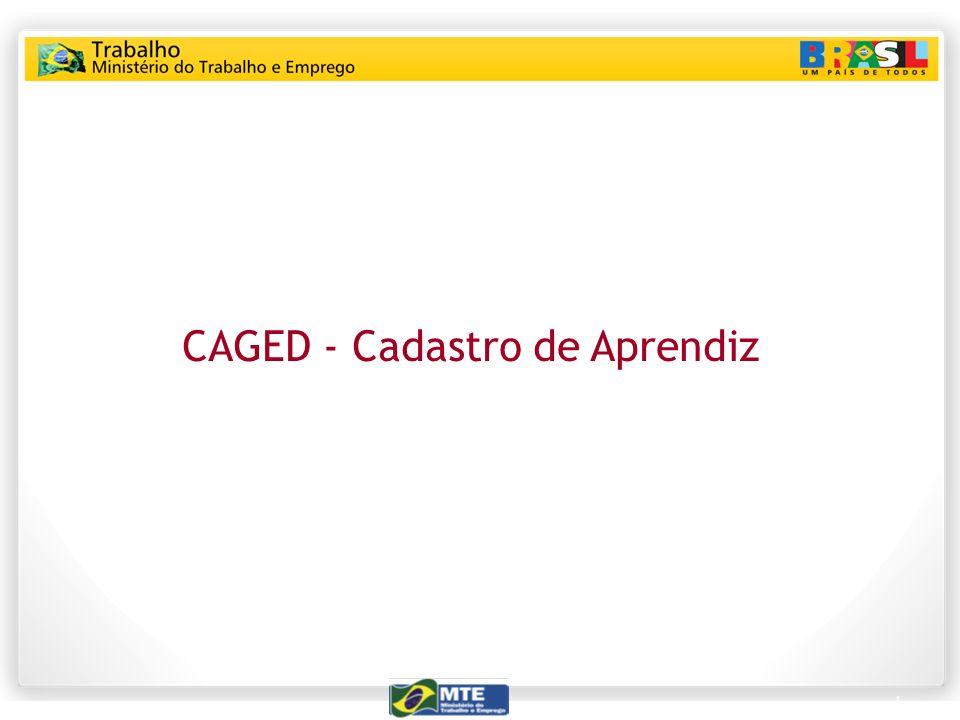 CAGED - Cadastro de Aprendiz