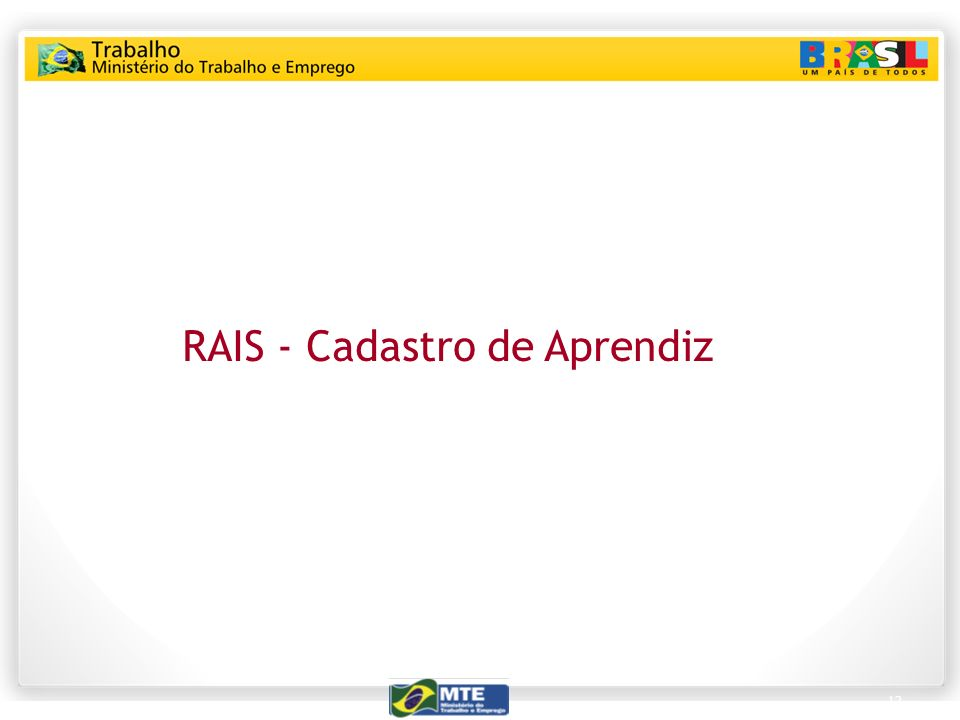 RAIS - Cadastro de Aprendiz