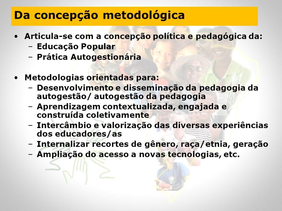 Da concepção metodológica