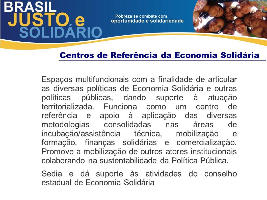 Centros de Referência da Economia Solidária