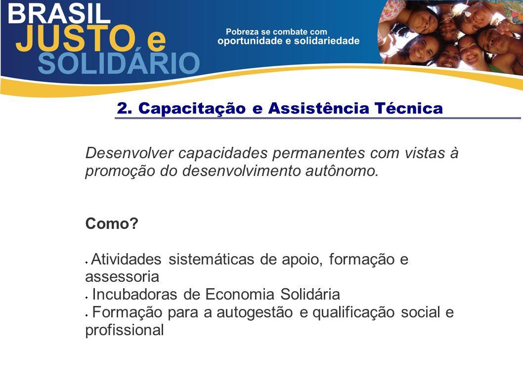 2. Capacitação e Assistência Técnica