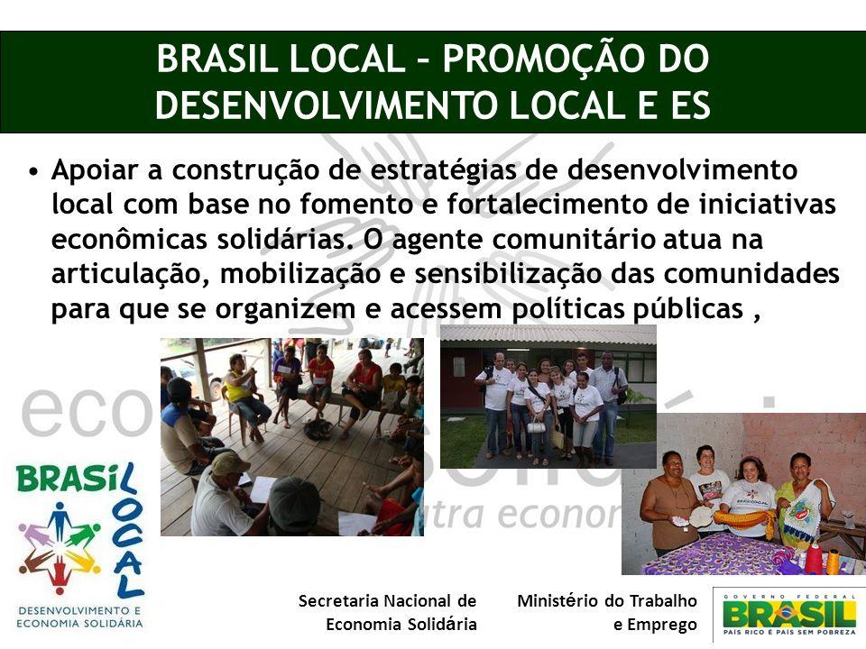 BRASIL LOCAL – PROMOÇÃO DO DESENVOLVIMENTO LOCAL E ES