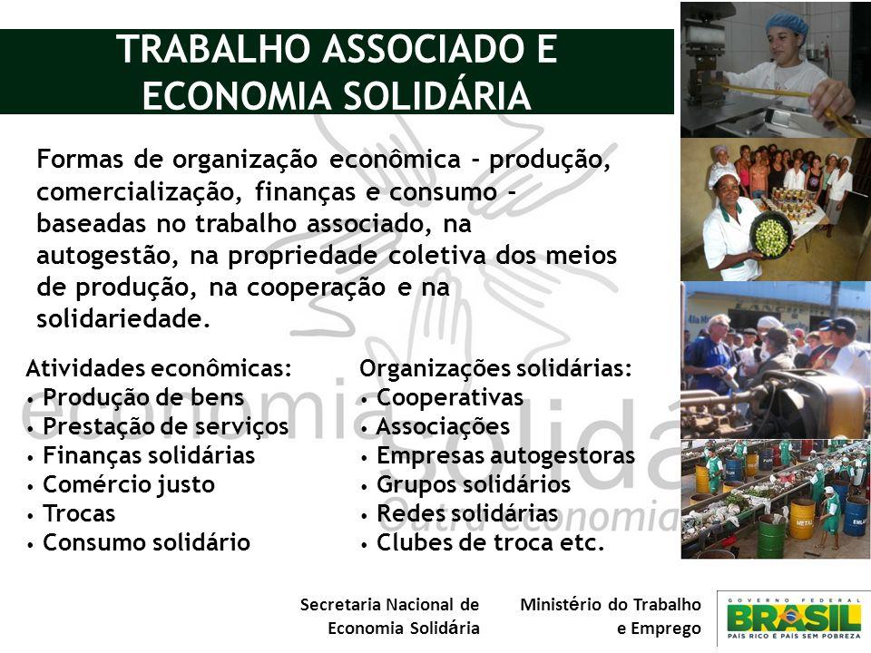 TRABALHO ASSOCIADO E ECONOMIA SOLIDÁRIA