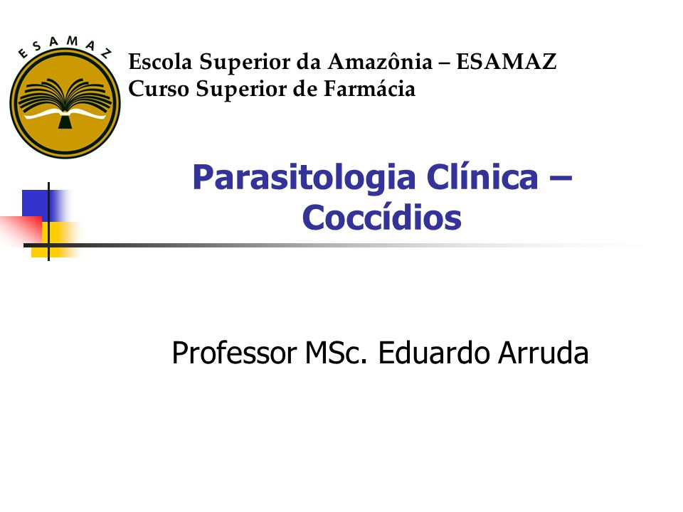 Parasitologia Clínica – Coccídios
