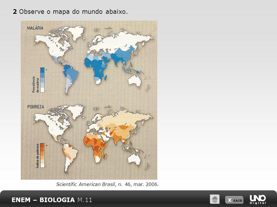 2 Observe o mapa do mundo abaixo.