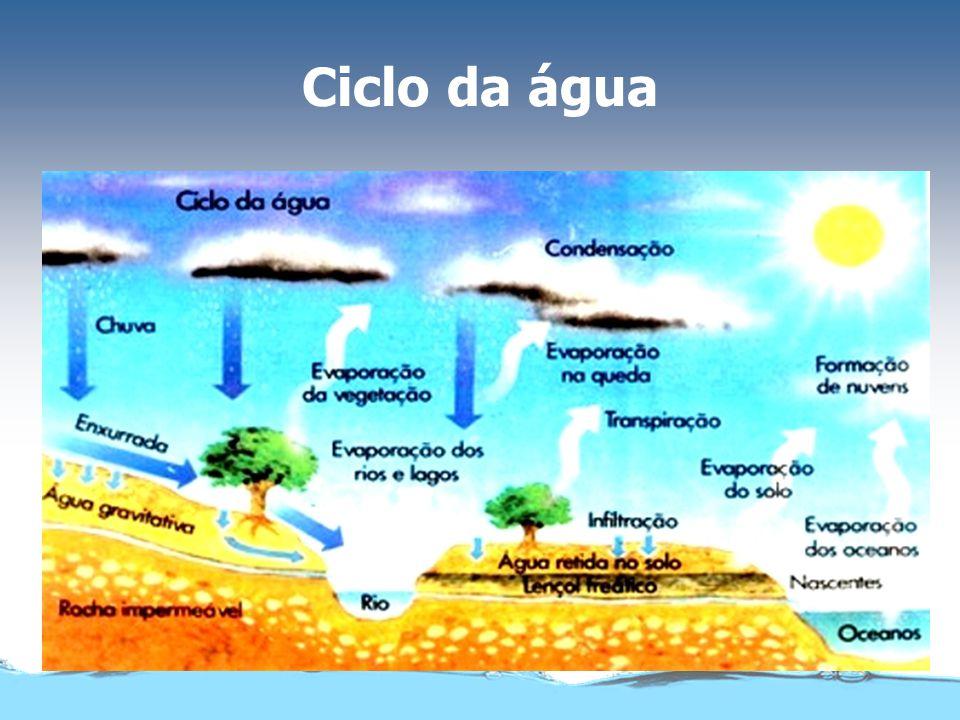 Água no estado sólido e líquido