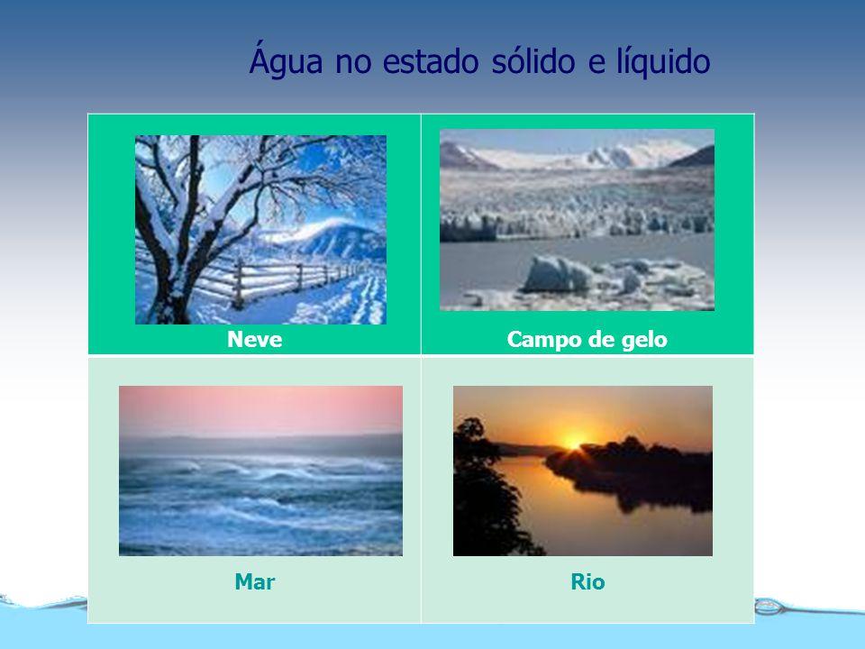 Qualidade da água Quanto às suas características, a água pode ser: