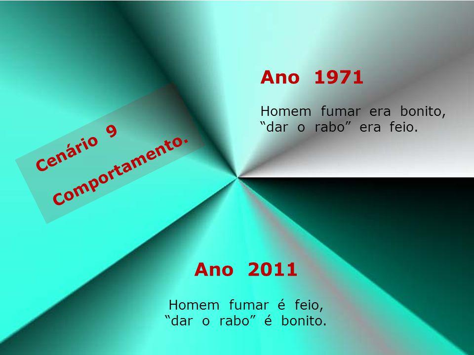 Ano 1971 Ano 2011 Cenário 9 Comportamento.