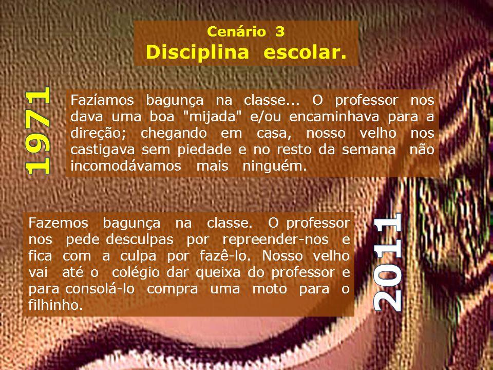 2011 1971 Disciplina escolar. Cenário 3
