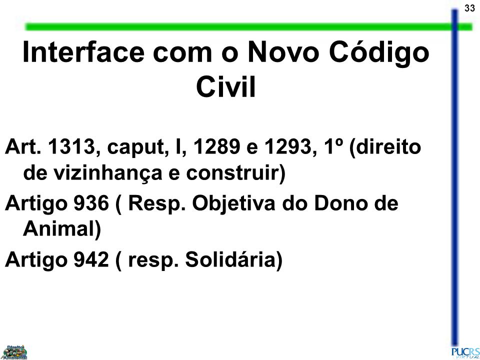 Interface com o Novo Código Civil