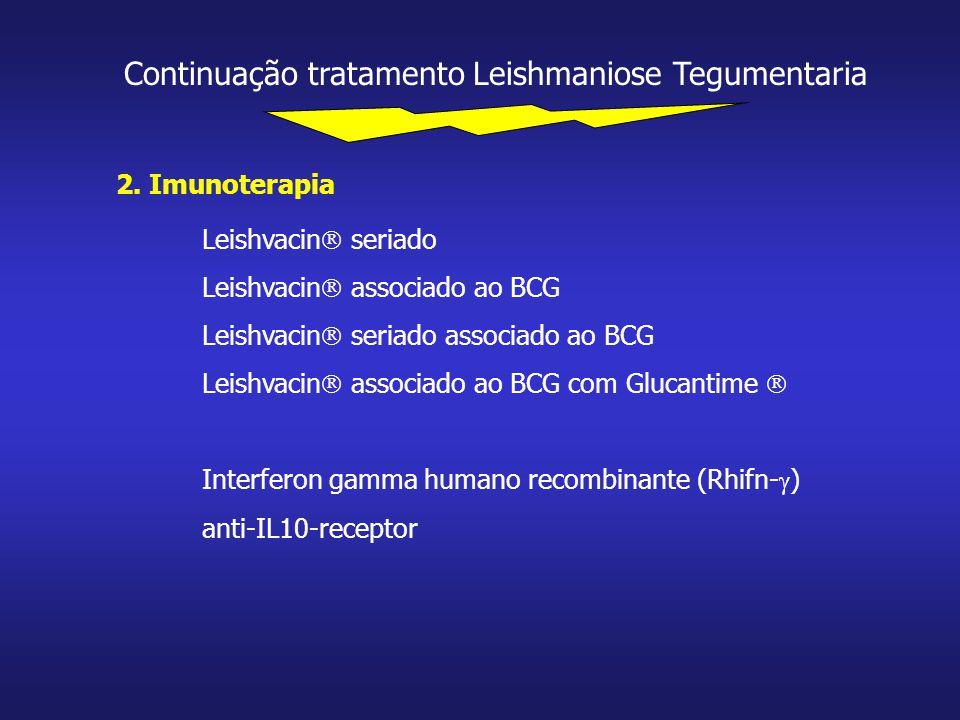 Continuação tratamento Leishmaniose Tegumentaria