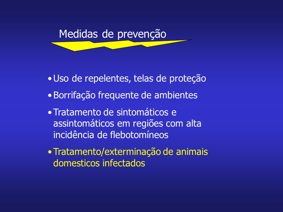 Medidas de prevenção Uso de repelentes, telas de proteção