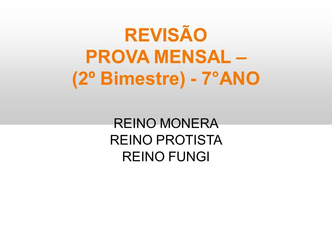REVISÃO PROVA MENSAL – (2º Bimestre) - 7°ANO