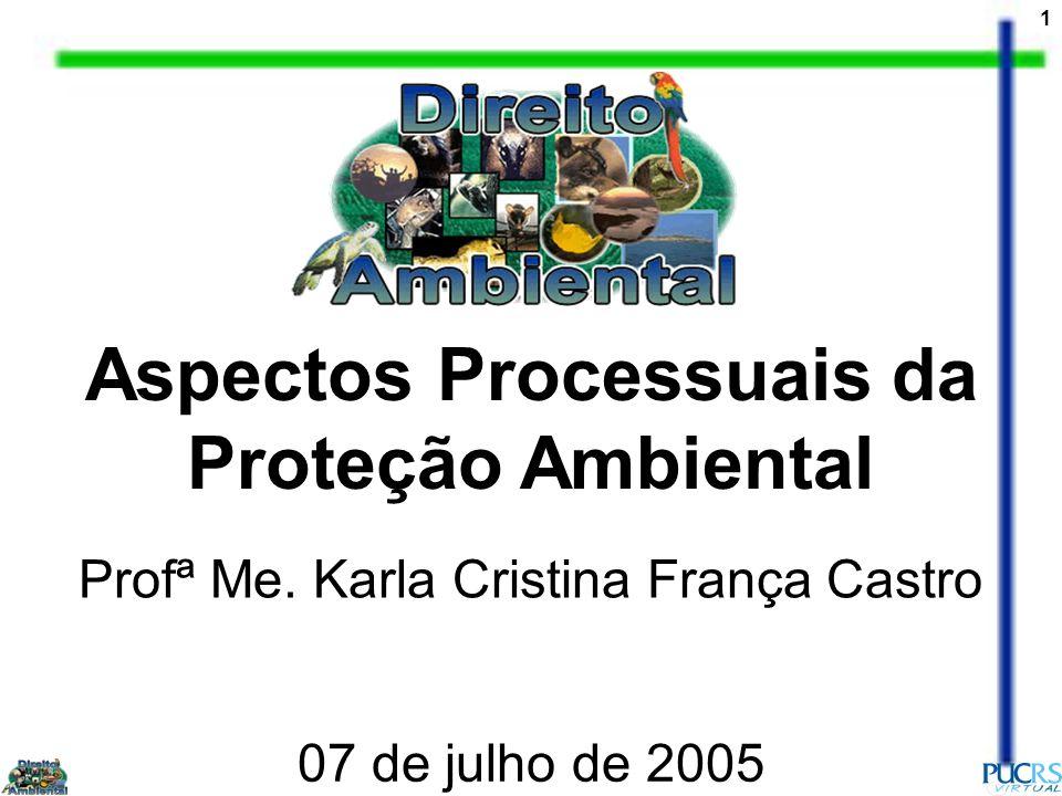 Aspectos Processuais da Proteção Ambiental