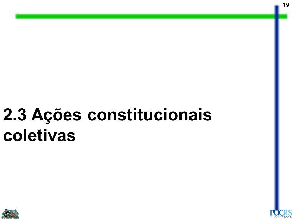 2.3 Ações constitucionais coletivas
