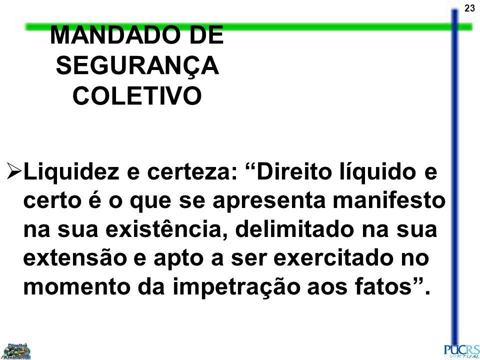MANDADO DE SEGURANÇA COLETIVO