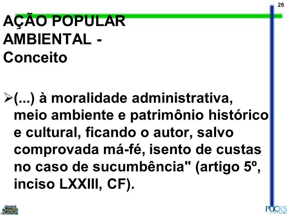 AÇÃO POPULAR AMBIENTAL - Conceito