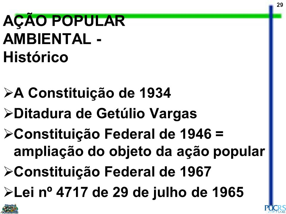 AÇÃO POPULAR AMBIENTAL - Histórico