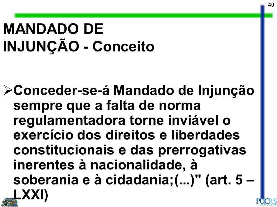 MANDADO DE INJUNÇÃO - Conceito