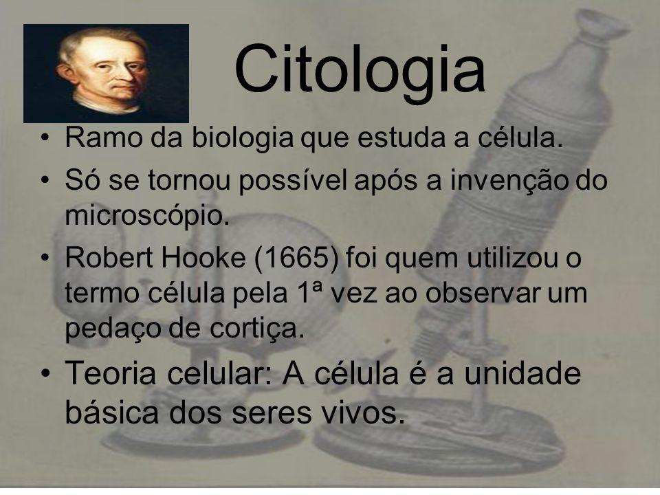 Citologia Teoria celular: A célula é a unidade básica dos seres vivos.
