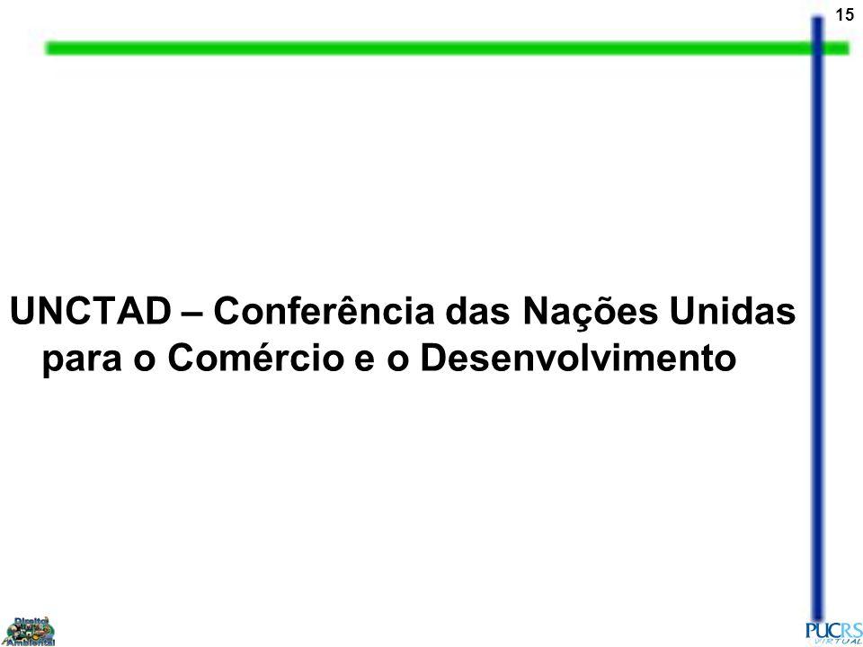 UNCTAD – Conferência das Nações Unidas para o Comércio e o Desenvolvimento