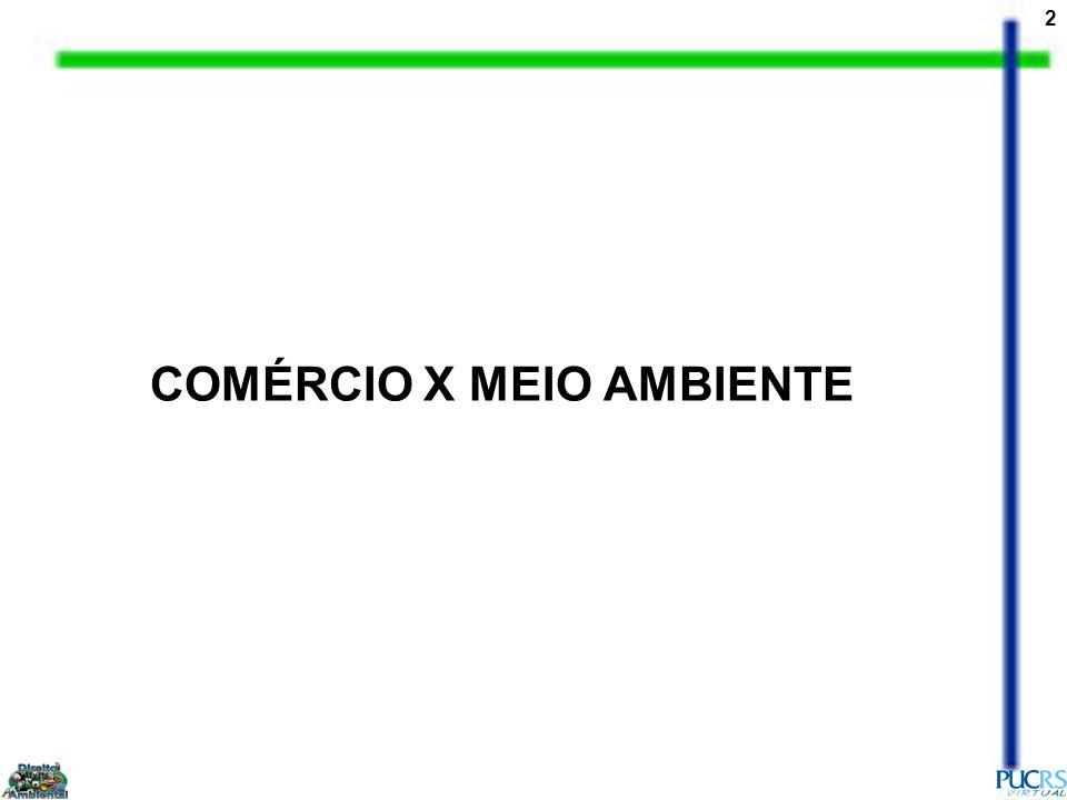 COMÉRCIO X MEIO AMBIENTE
