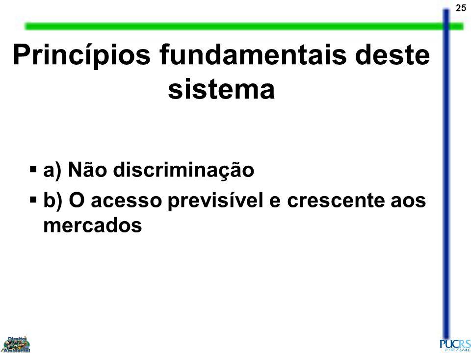 Princípios fundamentais deste sistema