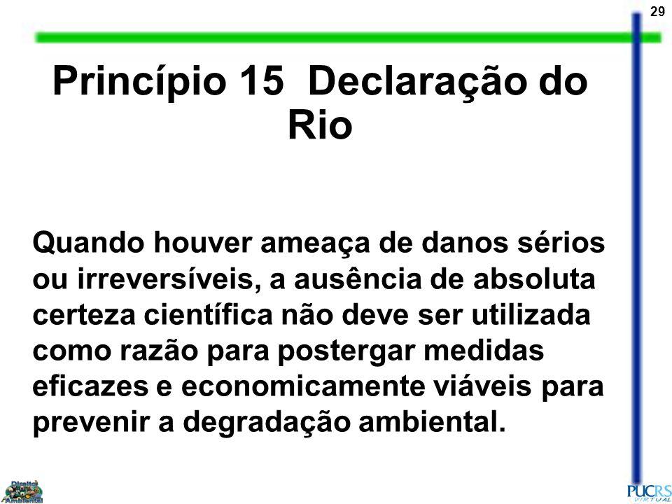 Princípio 15 Declaração do Rio