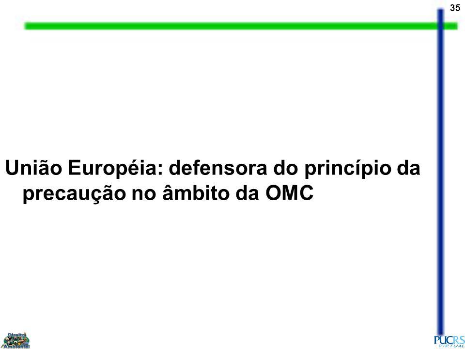 União Européia: defensora do princípio da precaução no âmbito da OMC