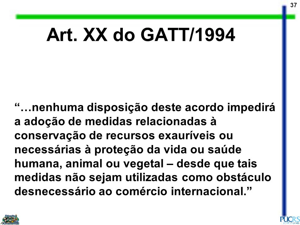 Art. XX do GATT/1994