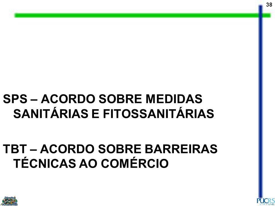 SPS – ACORDO SOBRE MEDIDAS SANITÁRIAS E FITOSSANITÁRIAS