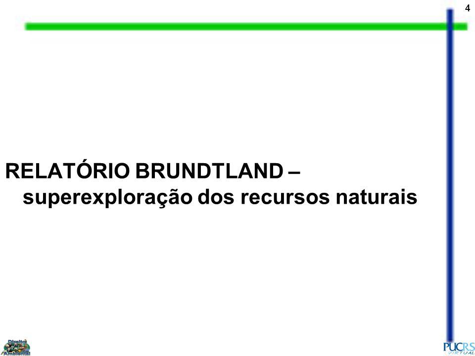 RELATÓRIO BRUNDTLAND – superexploração dos recursos naturais