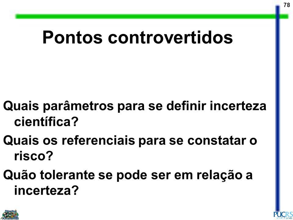Pontos controvertidos