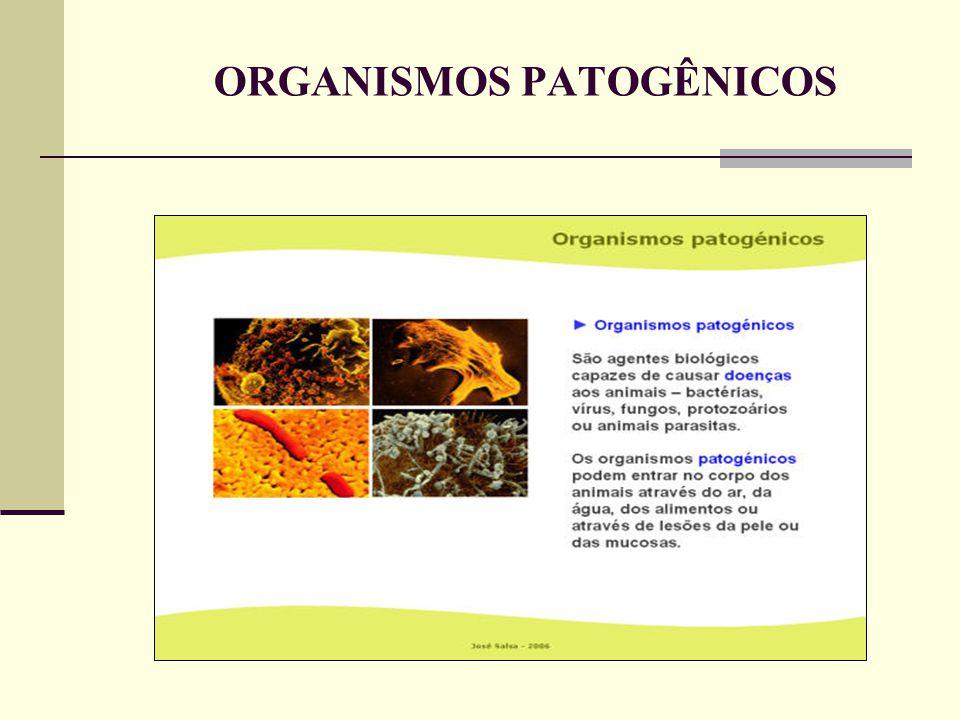 ORGANISMOS PATOGÊNICOS