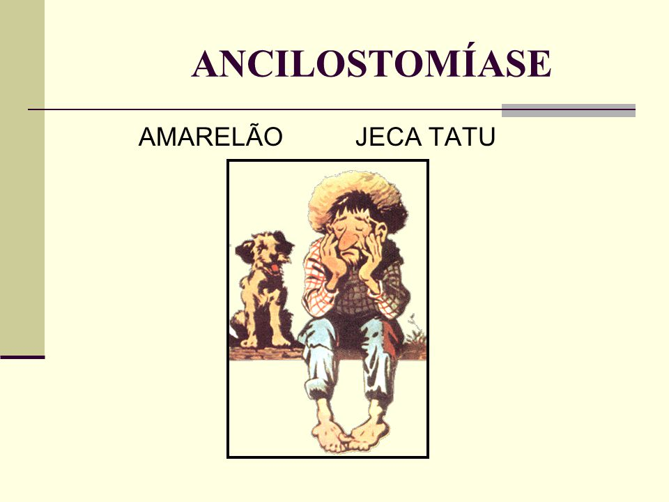 ANCILOSTOMÍASE AMARELÃO JECA TATU