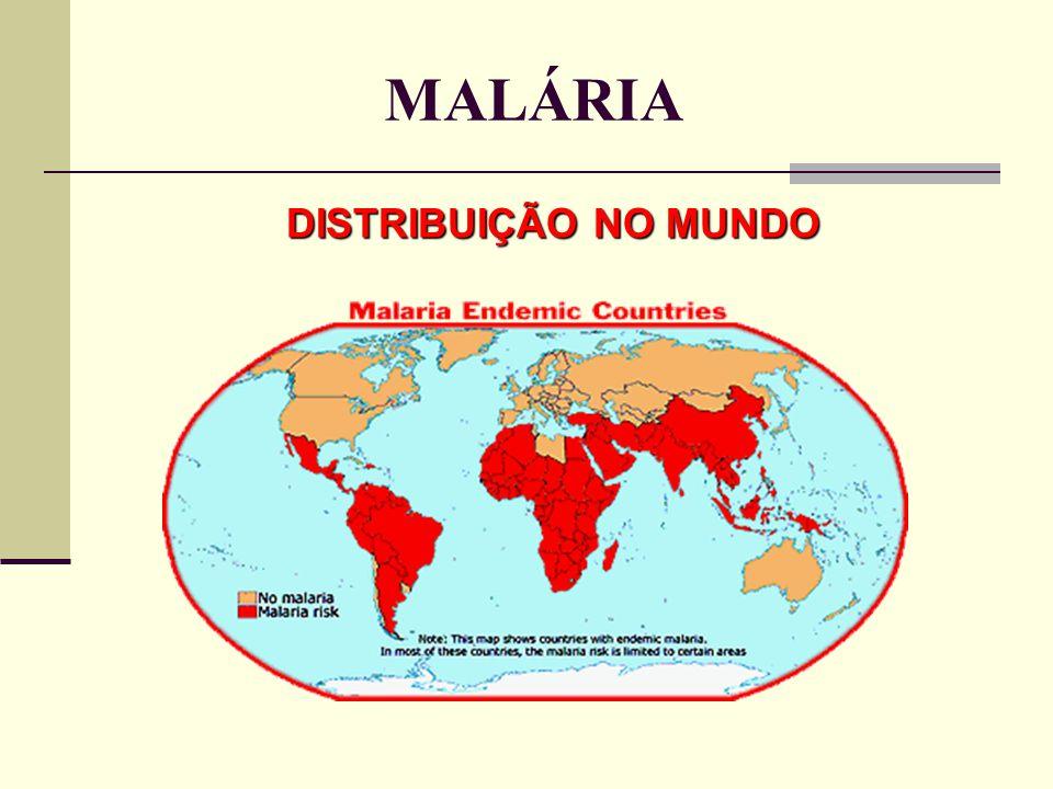 MALÁRIA DISTRIBUIÇÃO NO MUNDO
