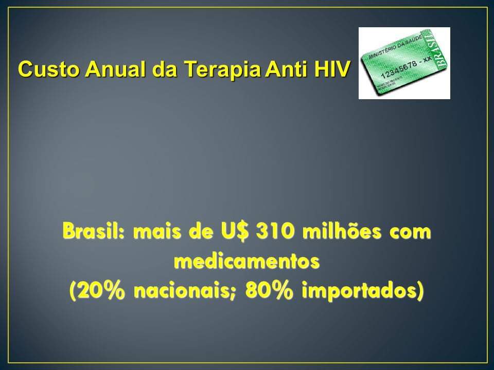 Brasil: mais de U$ 310 milhões com medicamentos