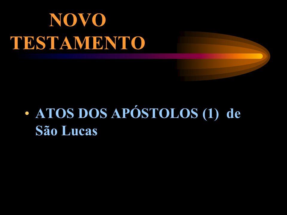NOVO TESTAMENTO ATOS DOS APÓSTOLOS (1) de São Lucas
