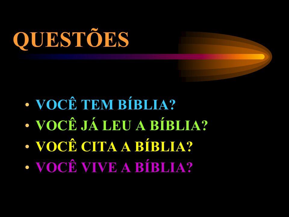 QUESTÕES VOCÊ TEM BÍBLIA VOCÊ JÁ LEU A BÍBLIA VOCÊ CITA A BÍBLIA